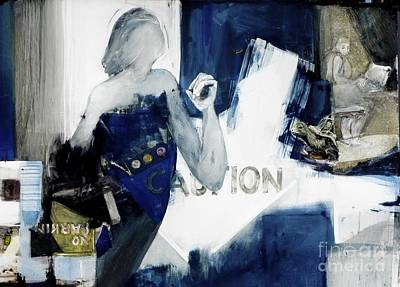 Painting - Caution by Helen Hayes