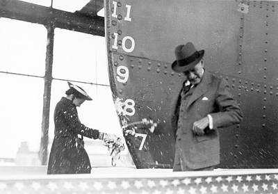 Champagne Photograph - Cavalier Cargo Ship Christening by Hagley Museum And Archive