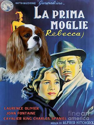Cavalier King Charles Spaniel Art - Rebecca Movie Poster Original
