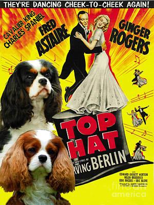 Cavalier King Charles Spaniel Art - Top Hat Movie Poster Original