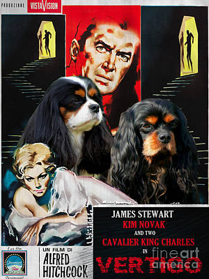 Cavalier King Charles Spaniel Art - Vertigo Movie Poster Original