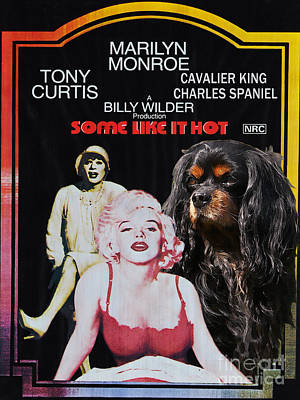 Cavalier King Charles Spaniel Art -some Like It Hot Movie Poster Art Print