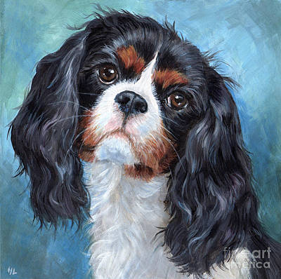 Soulful Eyes Painting - Cavalier King Charles Spaniel by Hope Lane