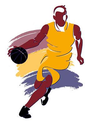 Cavaliers Basketball Player1 Art Print by Joe Hamilton