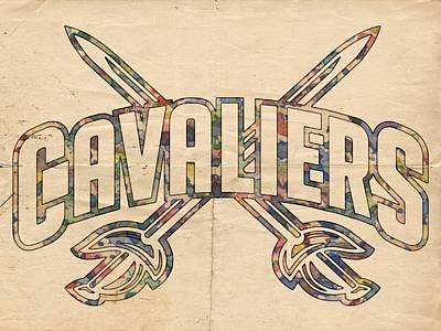 Painting - Cavaliers Poster Retro by Florian Rodarte