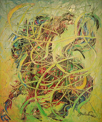 Quadri Painting - Cavallo Furioso by Enrico Nicodemo