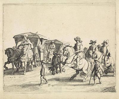 Cavalry And Carriages, Jan Van De Velde II Art Print