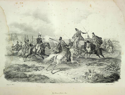 Cavalry Fight Art Print by British Library