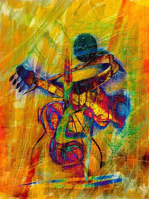 Trombone Mixed Media - Cavatina by Georgiana Romanovna