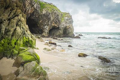 Cave At A Beach Sayulita Mexico Art Print by Andre Babiak