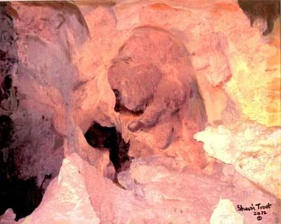 Cave Bear Original by Sherri Trout
