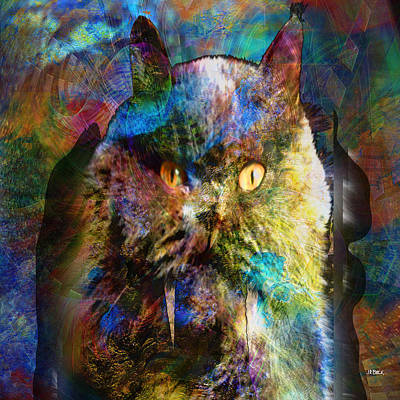 Cave Cat - Square Version Art Print