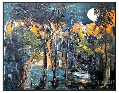 Cave Creek In Moonlight Original