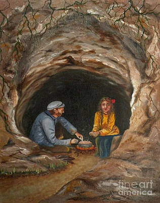 Painting - Cave Dwellers by Lora Duguay