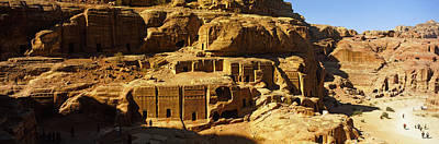 Petra Photograph - Cave Dwellings, Petra, Jordan by Panoramic Images