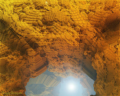Cave Home To The Light. 2013 80x64 Cm.  Original by Tautvydas Davainis