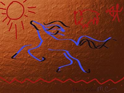 Bath Time Rights Managed Images - Cave Horse Royalty-Free Image by Marie Clark