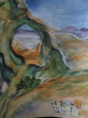 Cave In The Desert Art Print