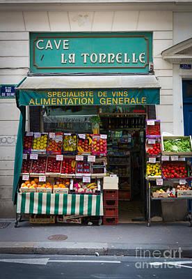 Storefront Photograph - Cave La Tonnelle by Inge Johnsson