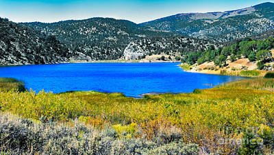 Cave Lake Art Print by Robert Bales