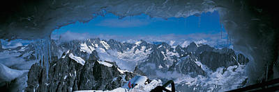 Magnificent Mountain Image Photograph - Cave Mt Blanc France by Panoramic Images