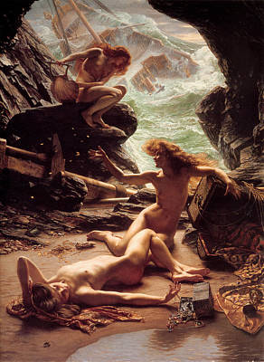 Poynter Painting - Cave Of The Storm Nymphs by Edward John Poynter