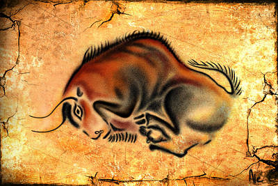 Drawing - Cave Painting by Alessandro Della Pietra