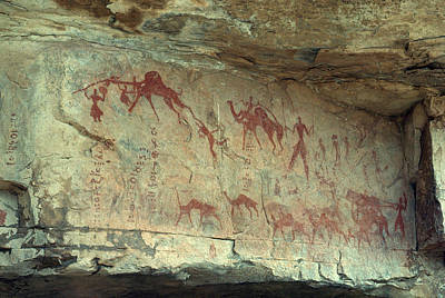 Neolithic Painting - Cave Painting, South Algeria by Betsy Blass