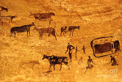Photograph - Cave Painting South Algeria by George Holton