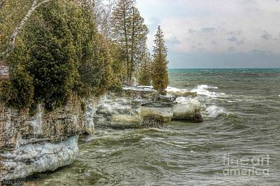 Nikki Vig Royalty-Free and Rights-Managed Images - Cave Point Door County by Nikki Vig