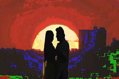 Cave Style Shadow Art  Dream Arched Getaway To Other World  Love Romance Taboo Society Reltionships  Art Print by Navin Joshi