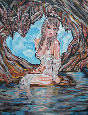 Cave Woman Print by Lorinda Fore