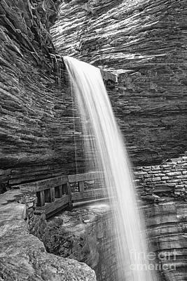 Photograph - Cavern Cascade Watkins Glen by Brad Marzolf Photography