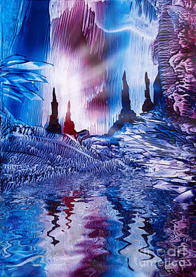 Encaustic Painting - Cavern Of Castles by Simon Bratt Photography LRPS