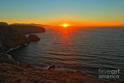 Santa Cruz Island Photograph - Cavern Point Sunset by Adam Jewell