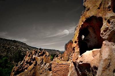Anasazi Digital Art - Cave's Moon by Diana Angstadt