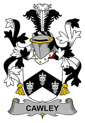 Cawley Coat Of Arms Irish Art Print by Heraldry