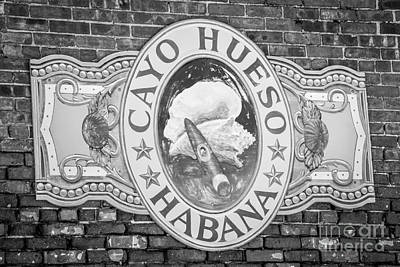 Cayo Hueso Habana Key West - Black And White Art Print by Ian Monk