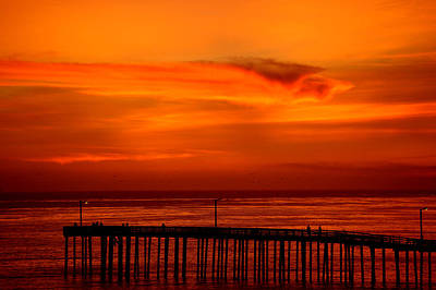Digital Art - Cayucos Pier Sunset II by Jim Pavelle