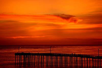 Digital Art - Cayucos Pier Sunset II by Jim Pavelle