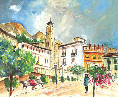 Town Square Drawing - Cazorla 04 by Miki De Goodaboom
