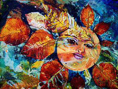 Cbs Sunday Morning Painting - Cbs Dreamweaver by Mary Sonya  Conti