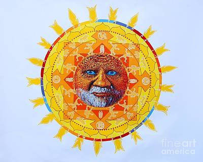 Painting - Cbs Sunday Morning Sun Mandala by Gail Allen