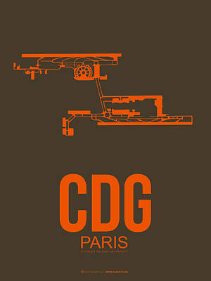 Paris Digital Art - Cdg Paris Airport Poster 3 by Naxart Studio