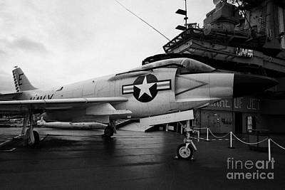 cDonnell f3 F3H2N F3B demon on the flight deck on display at the Intrepid Sea Air Space Museum Art Print by Joe Fox