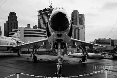 cDonnell F3H2N F3B f3 demon on the flight deck on display at the Intrepid Sea Air Space Museum Art Print