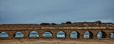 Photograph - Ceasarea Aqueduct 2 by Mark Fuller