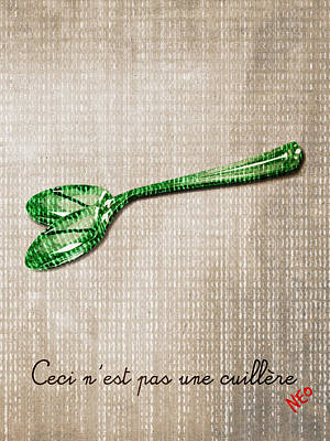 Ceci N'est Pas Une Cuillere By Neo Art Print by Filippo B