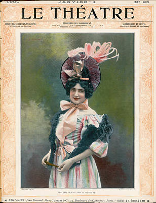 The Sopranos Photograph - Cecile Thevenet  Mezzo-soprano, Seen by Mary Evans Picture Library
