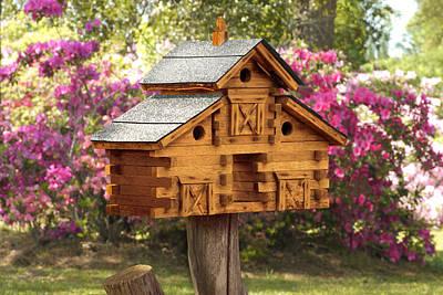 Cedar Wall Art - Photograph - Cedar Birdhouse by Mike McGlothlen